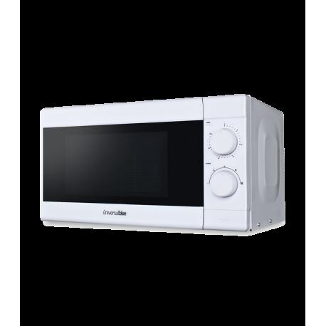 Microondas 20 litros 700W blanco Universalblue. Mod. UM20SGBL-18