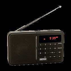 Radio digital portátil negro Daewoo. Mod. DRP-122B
