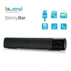 Barra de sonido portátil 10W negra BIWOND. Mod. SKINNYBAR