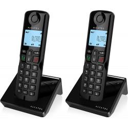 Teléfono inalámbrico duo negro manos libres Alcatel. Mod. S250DUO