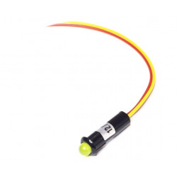Piloto con LED de 5 mm color amarillo Electro Dh Mod. 12.726/5/A