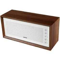 Altavoz portátil FM Bluetooth USB madera Denver. Mod. BTS-210 WHITE
