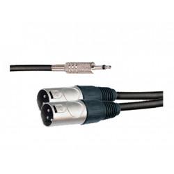 """Cable de derivación en """"Y"""" con conectores XLR3 y MiniJack mono AMS. Mod. CBL148"""
