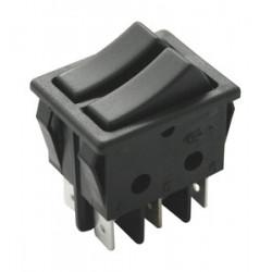 Conmutador doble negro 16A. Mod. 11.410.C/N