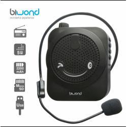 Altavoz megáfono portátil negro Biwond. Mod. POCKETVOICE