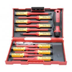 Juego de destornilladores 1000V, 11 puntas y bucapolos. Mod. HRV7698