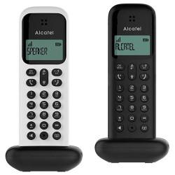 Teléfono inalámbrico Alcatel duo color negro y blanco. Mod. D285DUO