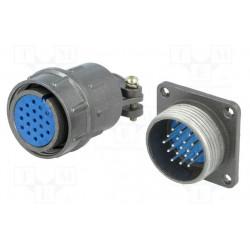 Conector hembra y macho redondos 19 pin 5A. Mod. DS1110-07-19LYP