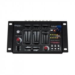 Mezclador de 4 Canales USB y bluetooth Ibiza Sound. Mod. DJ21USB-BT