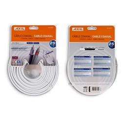 Rollo cable coaxial 25 metros blanco Engel. Mod. CA0728E