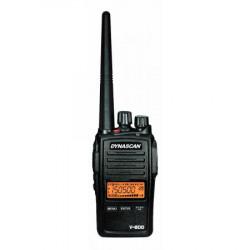 Walkie Talkie profesional VHF IP67 146-174 mhz 7,2v 1600 mhz li-ion Dynascan. Mod. V-600