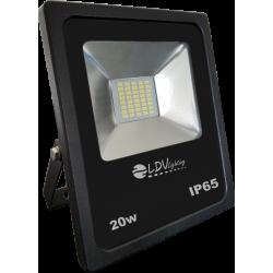 PROYECTOR LED 20W 12-24V 1900lm 6000K IP65 NEGRO. MOD. 56200112CW