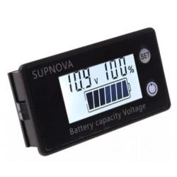 Voltímetro panel con indicador carga 8 - 100VDC LiFePO4. Mod. SUPNOVA
