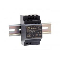 Fuente alimentación carril din 12V 60W Mean Well. Mod. HDR-60-12