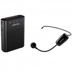 Amplificador Portátil USB/MicroSD/MP3 con Micrófono Inalámbrico Negro Fonestar. Mod. ALTA-VOZ-W30