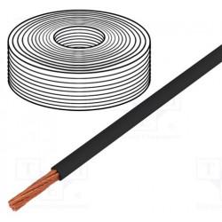 Cable de alimentación 8AWG negro Øcable 5mm 8AWG. Mod. PC-8GA-BK