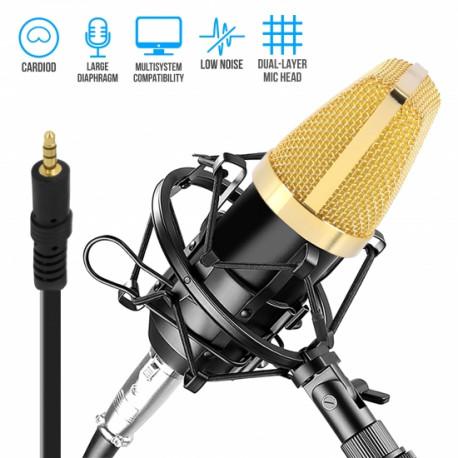 Micrófono condensador grabación Pyle Pro. Mod. PDMIC71