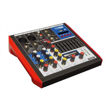 Mezclador analógico 4 canales USB Bluetooth Mark. Mod. MIXER MAXMINI4
