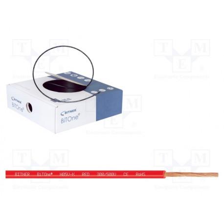 Cable 1x0.75mm2 rojo 300/500V metro. Mod. LH075R