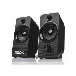 Pareja altavoces Nilox NEGRO 6W. Mod. NXAPC02