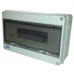 Caja estanca superficie modular 15E puerta transparente. Mod. HT-15W