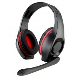 Auricular gaming c/micrófono rojo negro. Mod. AU0001