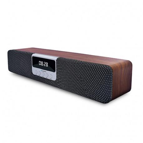 Despertador barra de sonido madera Bluetooth Denver. Mod. BLP9650