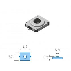 Pulsador de tacto SMD NC 5,0x6,3mm. Mod. SW048