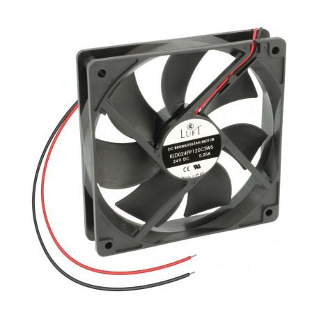 Ventilador 24VDC 120X120X25mm con cojinete de fricción. Mod. VEN042