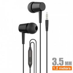 Auriculares con micrófono negro IDUSD. Mod. H16A
