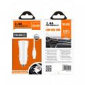 Cargador coche 2x2.4A c/ cable USB tipo C IDUSD. Mod. F23B
