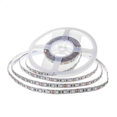 Tira de LED 12V 5 metros SMD 5050 60 led/m blanco cálido IP20. Mod. 2122