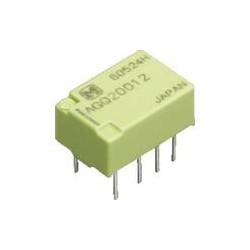 Relé de enclavamiento DPDT 12V dc Montaje en PCB, Señal 1 A. Mod. AGQ21012