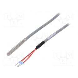 Sensor temperatura Pt100 3 hilos Ø6x50mm 3m. Mod. 72-23301001-0300.0050.JJ.TM
