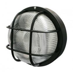 Aplique redondo 60 W / 230 VAC color negro Electro Dh Mod. 60.243/N