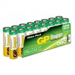 pila LR06-BOX16 GP ALCALINA  (pack 16 unidades)