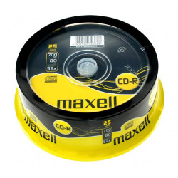 DISCOS Maxell CD-R 80 minutos XL-II 80 Digital Audio ( 25 UNIDADES )