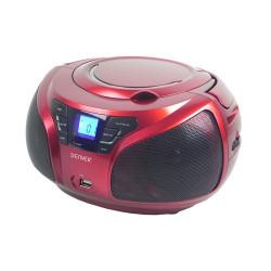 Radio Portátil Denver TCU-206 Rojo