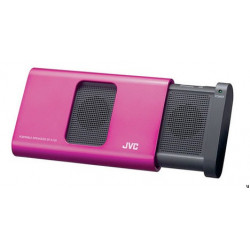 Altavoz portatil JVC para iPhone, iPod o iPad Rosa.
