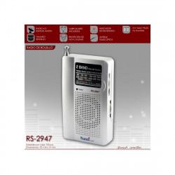 Radio de bolsillo sami  2 bandas auriculares (mod. 2947)