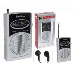 Radio de bolsillo sami  2 bandas auriculares (mod. 2926)