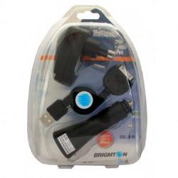 Cargador Multimedia para casa, coche o iPod Brigmton Negro