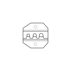 Accesorio para el engastado de conectores de fibra Óptica y SMA. Electro Dh. Mod. 46.250/11