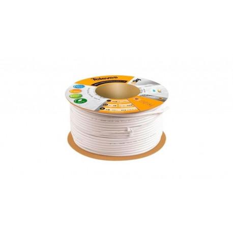 Cable Coaxial Altisima Calidad T 100 Plus Pvc Blanco 100