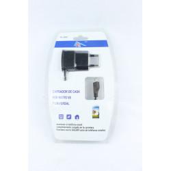 Cargador de casa para micro v8 y universal, negro, 100-240V 5.0V 1A. Mod. FH-2656