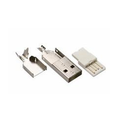 CONECTOR USB TIPO A MACHO PARA SOLDAR EN CABLE. Mod. 3360