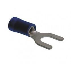 Blister de terminal faston preailado horquilla azul. Mod. VDR-19