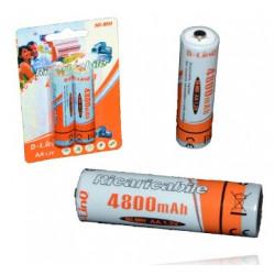 Batería recargable 4800 mAh. Tipo AA 1.2V. Mod. Ni-Mh4800