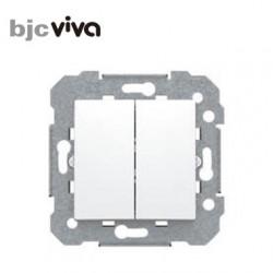 Conmutador doble blanco BJC viva 23510