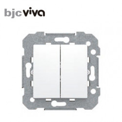 Interruptor doble blanco BJC viva 23509